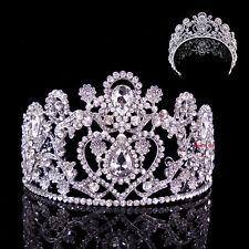Enorm 8cm hoch Herz Hochzeit Braut Haarschmuck Haarreif Krone Diademe Tiara