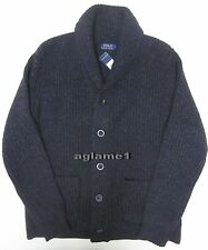 Polo Ralph Lauren Italian yarn Thick cashmere blend Shawl cardigan sweater XL