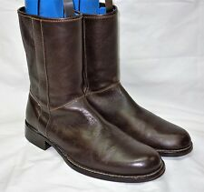 Cole Haan Dylan Plain Toe Brown Leather Causal Boots Size 10.5