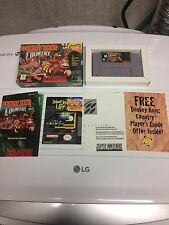 Super Nintendo Snes Game Donkey Kong Country Complete In Box
