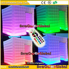 "7'10"" custom made portable inflatable tent photo booth LED light party event"