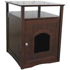 Pet Kitty Cat End Table Home Bed Furniture House Litter Box Shelter Nightstand
