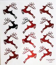 Red Reindeer Christmas PS Foil Stickers