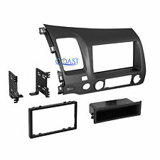 Car Radio Stereo Single Din Dash Kit Trim w/ Pocket for 2006-2011 Honda Civic