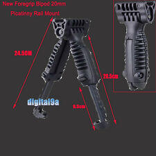 Military Tactical Rifle Scope Foldable Foregrip Bipod 20mm Picatinny Rail Mount