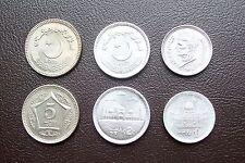 PAKISTAN RUPEES 1,2,5  UNC, Neu !!!