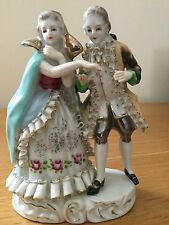 Antique Dresden  porcelain  figurine,people,old,excellent condition