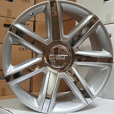 "22"" Rims Tires Escalade New Platinum Style Wheels Silver Chrome Yukon Sierra 24"