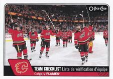 CALGARY FLAMES 2016-17 16-17 OPC O-PEE-CHEE TEAM CHECKLIST SP #620 !