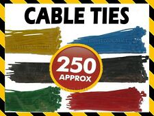 COLOURED CABLE ZIP TIES 250 TIDY COMPUTER ELECTRIC WIRES CABLES LIGHTS BUNTING