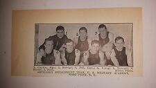 Artillery Detachment West Point New York Army 1910-11 Basketball Team Picture