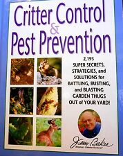 Critter Control & Pest Prevention: 2,193 Super Secrets by Jerry Baker new