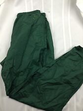 VTG M 90s Nike Nylon Jogging Pants Gym Run Green Crinkle Workout Sweat Wind Logo