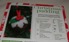 Knitting pattern for ~ CHRISTMAS PUDDING ~ Tree decoration