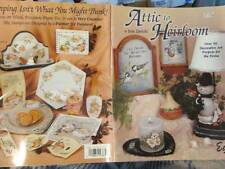 Attic To Heirloom Painting Book-Jean Zawicki-Birds/Snowman/Fruit/Flowers