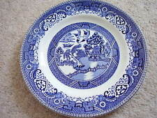 Staffordshire,Willow  England  porcelain blue and white plate