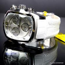 Invicta Lupah Revolution White Chronograph Leather Swiss Made Watch 6127 New