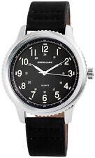 Excellanc Herrenuhr Zifferblatt Schwarz Band Schwarz Armbanduhr SE316