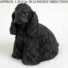 Cocker Spaniel Mini Resin Dog Figurine Statue Hand Painted Black