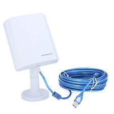 Wireless WiFi Adapter Receiver Dongle w Antenna 150Mbps Cable Included