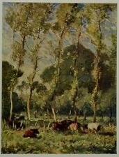 Pastures At La Madelaine Near Montreuil by Frank Mura. The Studio, 1913.