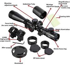Zoom Rifle Scope ZOS 6-24X50+ Réticule Lumineux Lunette Tir Chasse Fusil Chas