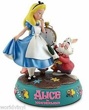 NIB Disney Alice in Wonderland w/ White Rabbit Medium Big Fig Figure