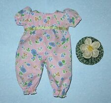 "Handmade Doll Clothes for 11"" - 13"" Baby Dolls - ""Happy Day"" Flower Long Romper"