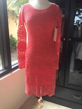 NWT Boston Proper Dress Size S Crochet Coral $139 Cotton