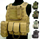New Style USMC Tactical Military Airsoft Molle Combat Assault Plate Carrier Vest