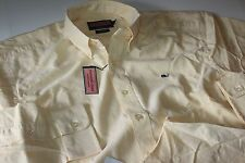 Vineyard Vines Whale Shirt Oxford Solid Sun Ray Classic Fit New Large L