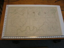 """1891 Civil War Map 18"""" X 29"""": plate XXXV: 7 in 1, Chattanooga, shelbyville, etc"""