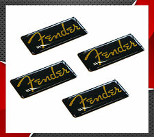4 DOMED STICKERS FENDER BASS ELECTRIC ACOUSTIC GUITAR AUDIO SOUND SYSTEM MUSIC