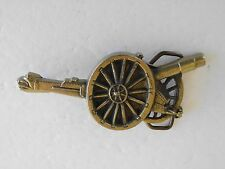 BELT BUCKLE CANNON CIVIL WAR MILITARY  SOLID BRASS GOLD TONE BARRON BUCKLE CO