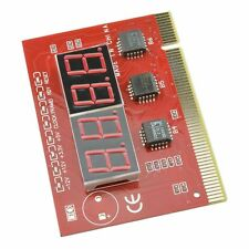 LED 4 Digit Analysis Diagnostic Tester POST Card PCI PC Analyzer Motherboard D