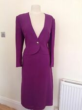 JAEGER PURPLE SKIRT AND JACKET SUIT SIZE 12