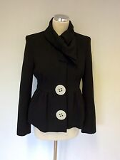 DESIGNER SARA BERMAN BLACK QUIRKY JACKET SIZE 8