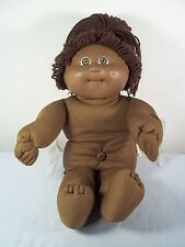 Vtg Cabbage Patch Black African American Girl Doll w/ Signature #3 Head 1982