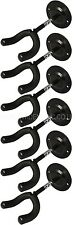 SIX (6) GUITAR WALL HANGERS ELECTRIC, ACOUSTIC, BASS