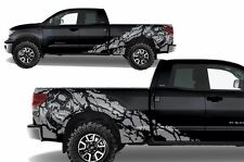 Vinyl Decal Nightmare Wrap Kit for Toyota Tundra TRD 2007-2013 Double Cab Silver
