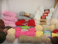 HUGE LOT RAINBOW SCRAP ACRYLIC RUG SKEINS & BALLS MANY COLORS & MAKERS 41G6