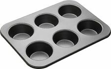 Bakeware 6 Cups / Cavity Non- Stick Muffin Tray+ 10cm Paper Liners FREE(100 pec)