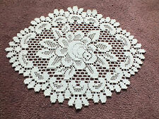 """Collectible Beautiful Heritage Lace Doily Table Linen White 15 x 11"""" NICE"""
