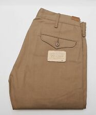 NEW Ralph Lauren RRL DOUBLE RL Khaki Selvedge Rigid Officer Chino Pants 29 x 30