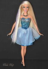 LONG HAIR BARBIE DOLL IN SILVER GLITTER BLUE ICE DRESS