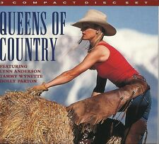 QUEENS OF COUNTRY - 3 CD BOX SET - LYNN ANDERSON, TAMMY WYNETTE, DOLLY PARTON