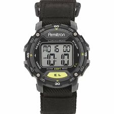 Armitron Sports Mens Digital Chronograph Black Nylon Strap Watch 40/8291BLK