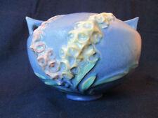 FLORAL VASE! Vintage ROSEVILLE ART pottery: original  FOXGLOVE pattern: EXCLNT!