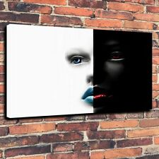 """Decor Art QUALITY CANVAS PRINT Woman In Black and White Home Wall A3892,16""""x24"""""""