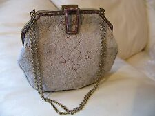 Antique Pink Frame French Micro Bead Tambour Forbidden Stitch Embroidery Purse